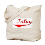 Talia Vintage (Red) Tote Bag