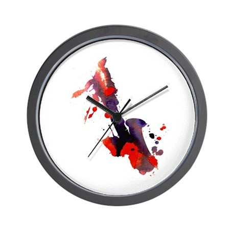 Paint Splat Saxophone Wall Clock