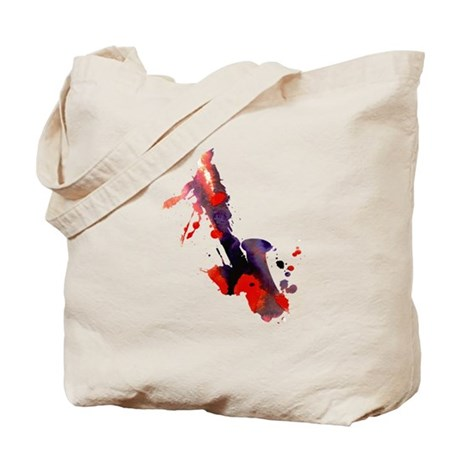 Paint Splat Saxophone Tote Bag