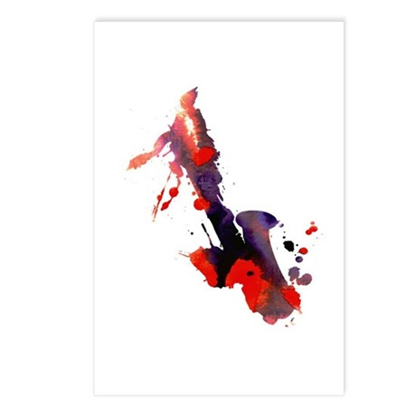 Paint Splat Saxophone Postcards (Package of 8)