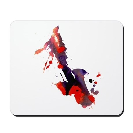 Paint Splat Saxophone Mousepad