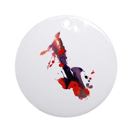 Paint Splat Saxophone Ornament (Round)