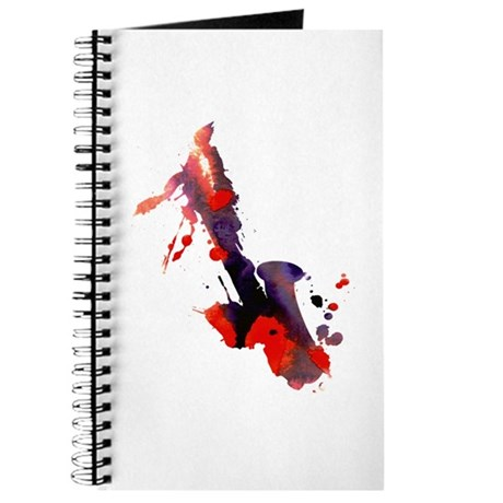 Paint Splat Saxophone Journal