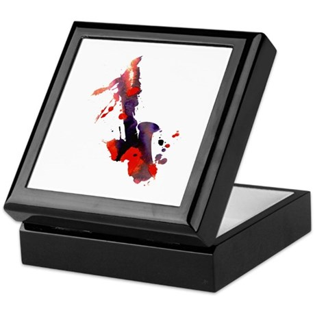 Paint Splat Saxophone Keepsake Box