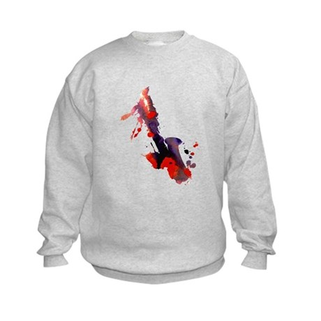 Paint Splat Saxophone Kids Sweatshirt