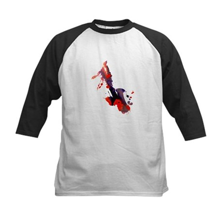 Paint Splat Saxophone Kids Baseball Jersey