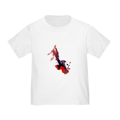 Paint Splat Saxophone Toddler T-Shirt