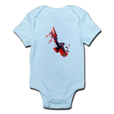 Paint Splat Saxophone Infant Bodysuit