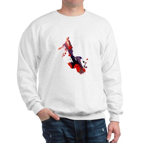 Paint Splat Saxophone Sweatshirt
