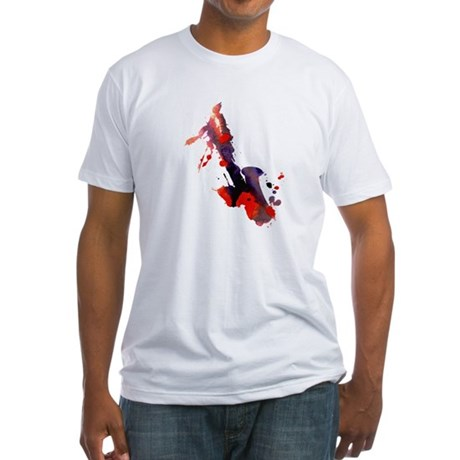 Paint Splat Saxophone Fitted T-Shirt