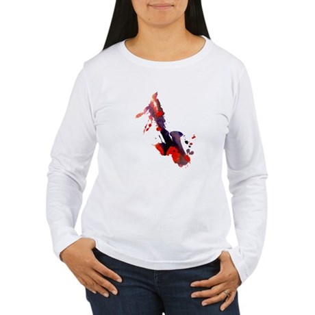 Paint Splat Saxophone Women's Long Sleeve T-Shirt