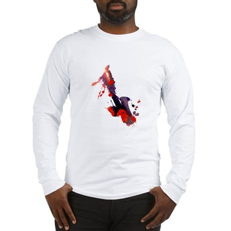 Paint Splat Saxophone Long Sleeve T-Shirt