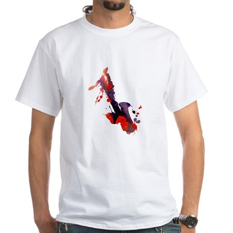 Paint Splat Saxophone White T-Shirt