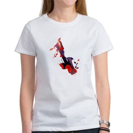 Paint Splat Saxophone Women's T-Shirt