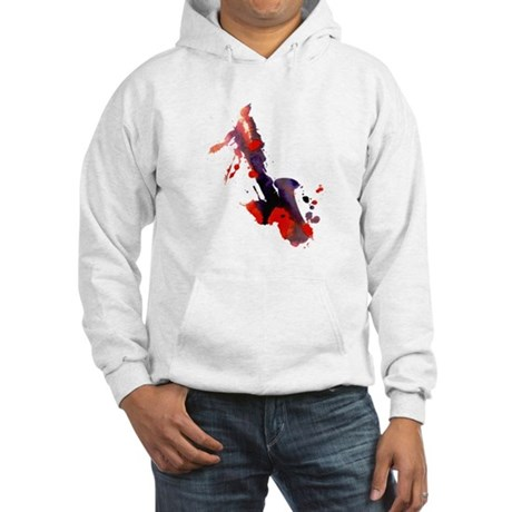 Paint Splat Saxophone Hooded Sweatshirt