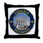 Virginia Free Masons Throw Pillow