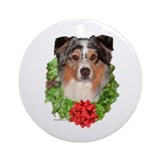 Aussie Wreath Ornament (Round)