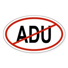 ADU Oval Decal