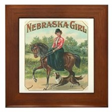 Nebraska Girl Framed Tile