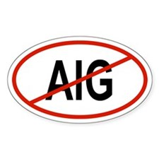 AIG Oval Decal