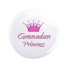 "Grenadan Princess 3.5"" Button"