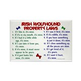 Irish Wolfhound Property Laws 2 Rectangle Magnet (