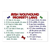 Irish Wolfhound Property Laws 2 Postcards (Package
