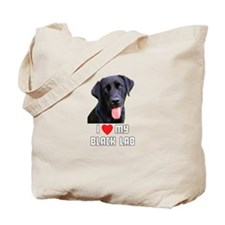 I Love My Black Lab Tote Bag