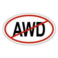 AWD Oval Decal