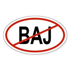 BAJ Oval Decal