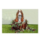 Christmas Basset Holiday Dog Postcards (Package of