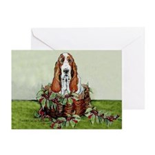 Christmas Basset Holiday Dog Greeting Cards (Pk of