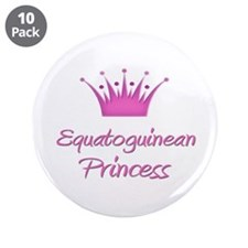 "Equatoguinean Princess 3.5"" Button (10 pack)"