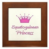 Equatoguinean Princess Framed Tile