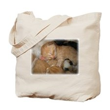 Newborn Kitten Sleeping Tote Bag