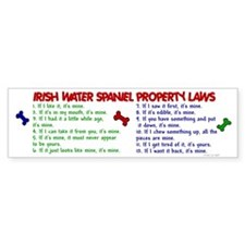 Irish Water Spaniel Property Laws 2 Bumper Sticker