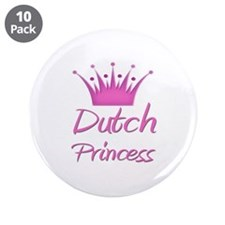 "Dutch Princess 3.5"" Button (10 pack)"
