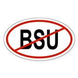 BSU Oval Decal