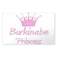 Burkinabe Princess Rectangle Decal