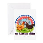 All American Breeds Greeting Cards (Pk of 10)