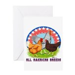 All American Breeds Greeting Card