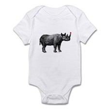 holiday rhino Infant Bodysuit