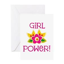 Flower Girl Power Greeting Card