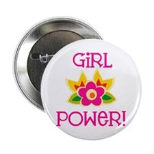 "Flower Girl Power 2.25"" Button"