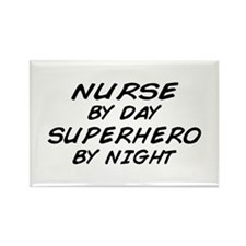 Nurse Day Superhero Night Rectangle Magnet