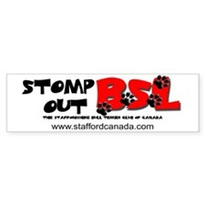 Stomp out BSL Bumper Bumper Sticker