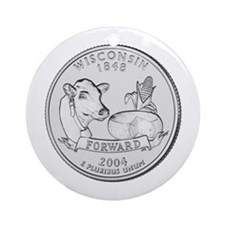 Wisconsin State Quarter Keepsake (Round)