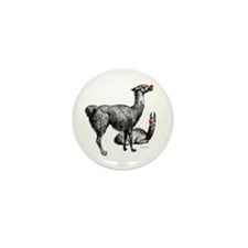 llamas Mini Button (10 pack)