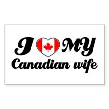 I love my Canadian wife Rectangle Decal