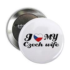 "I love my Czech wife 2.25"" Button (100 pack)"